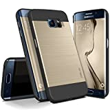 Galaxy S6 Edge Case, OBLIQ [Slim Meta] Ultra Slim Fit [All Around Protection] Samsung Galaxy S6 Edge Cases [Gold Platinum]