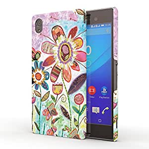 Koveru Designer Printed Protective Snap-On Durable Plastic Back Shell Case Cover for Sony XPERIA M4 Aqua - Wild Garden