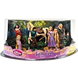 Disney Tangled Exclusive 7 Piece Deluxe Mini PVC Figurine Set Rapunzel, Flynn, Maximus, Toddler,Rapunzel, Mother Gothel, Hookhand Thug Pascal