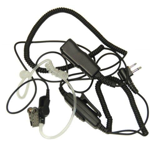 Advanced Double Ptt Covert Acoustic Tube Bodyguard Fbi Earpiece Headset Mic For 2-Pin Motorola Radio Cp040 Cp200 Xtni Dtr Vl50