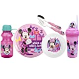 Zak Designs Disney 6-Piece Kids Mealtime Set, Minnie Mouse