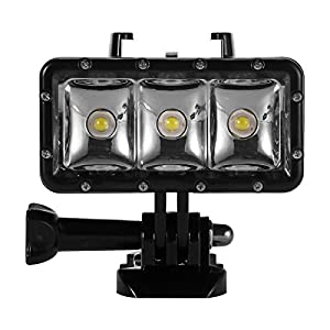 XCSOURCE LED proyector 30 m impermeable buceo submarina vídeo lámpara para GoPro 4, Gopro 3 +, GoPro 3, SJ4000, SJ5000 y Xiaoyi os463
