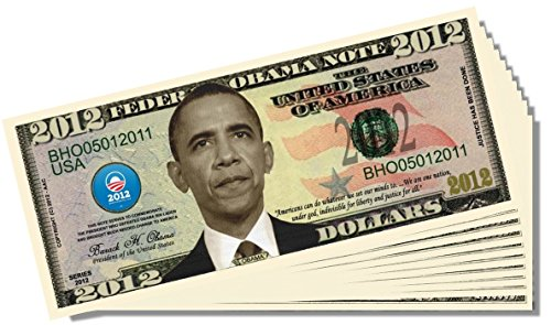 Barack Obama 2012 Federal Reserve Note - 25 Count with Bonus Clear Protector & Christopher Columbus Bill