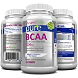 BCAA Amino Acids - Aids in Weight Loss, Building Lean Muscle Mass, and Muscle Recovery, Contains L-Leucine, L-Isoleucine, and L-Valine, 1000mg Tablets. Works Excellant with Pure White Kidney Bean Extract. Manufactured in a USA Based GMP Organic Certified Facility and Third Party Tested for Purity. Guaranteed!!