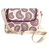 Plum Paisley Cross Over Bag