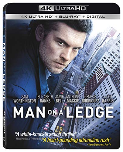 4K Blu-ray : Man On A Ledge (With Blu-ray, 4K Mastering, 2 Pack, Widescreen, Subtitled)