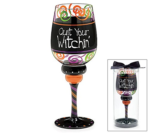 Halloween Party 20 Ounce Wine Glass with