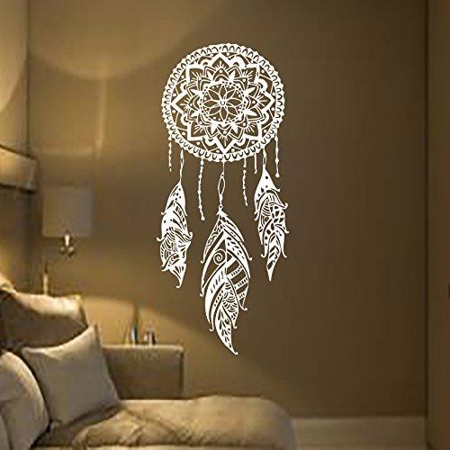 Mandala Wandtattoo Schlafzimmer Wandaufkleber Yoga Vinyl Aufkleber Mandala Blume Wandsticker Wohnzimmer Ornament Indischen Sticker Geometrische Marokkanische Boho Decor Bohemian MN923