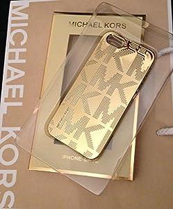 michael mk kors logo gold iphone 5 5s case electronics. Black Bedroom Furniture Sets. Home Design Ideas