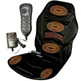 HEATED BACK SEAT MASSAGER CUSHION FOR CHAIR CAR MASSAGE HOME RELAX VAN