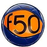 Pelota de Fútbol Adidas Performance F50 X-ite II tamaño 3, color azul de poder, naranja advertencia y negro