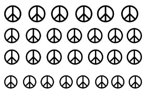 Facile a utiliser d'art d'ongle transfert autocollants Peace Symbol / Paix