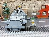 Modbrix 2366 - ✠ Wehrmacht Bausteine Panzerspähwagen Sd.Kfz. 222 inkl. custom Wehrmacht Soldaten aus original Lego© Teilen ✠ - 5