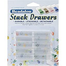 Beadalon Stack Drawers, 4 Packages of 10 Drawers, 40 Drawers Total