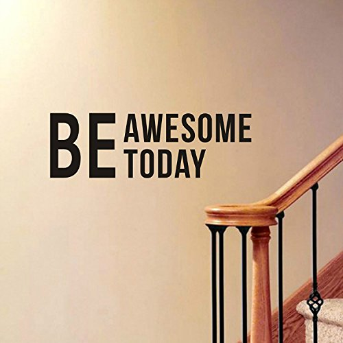 Vinyl Wall Decals Quotes,Removable Word Quotes,Be Awesome Today Wall Mural Home Decor by Delma(TM) (Removable Wall Decal Quotes compare prices)