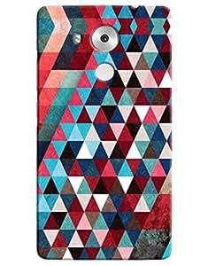 Omnam Pattern printed dark design triangular back cover for Huawei Honor Mate 8