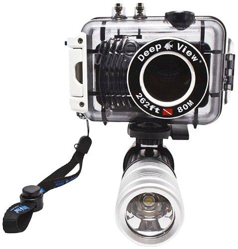 Pack Photo plongée DISCOVER Light : Appareil photo Fujifilm JX580 + Caisson étanche 80 mètres + Lampe LF300 3W