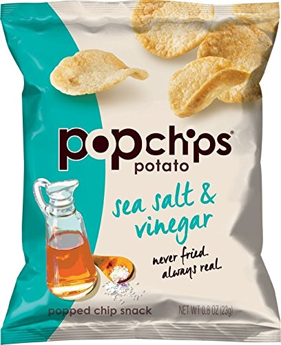 Popchips Potato Chips, Sea Salt and Vinegar, 0.8 Ounce (Sea Salt Popchips compare prices)