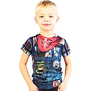 Faux Real Toddler Hillbilly Costume T-shirt by Faux Real Shirt