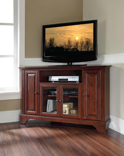 Crosley Furniture Lafayette 48 Inch Corner Tv Stand Vintage Mahogany For Sale Buy Home
