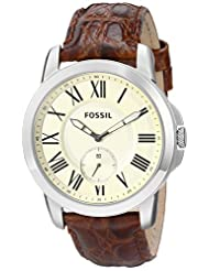 Fossil Grant Analog Beige Dial Men's Watch - FS4963