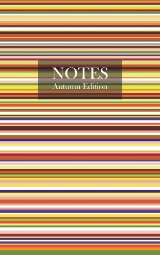 Autumn Striped Lined Notebook