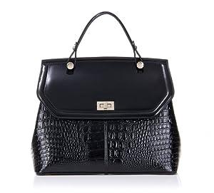 Fineplus Women's Inspired Genuine Leather Waterproof Zipper Shoulder Bags