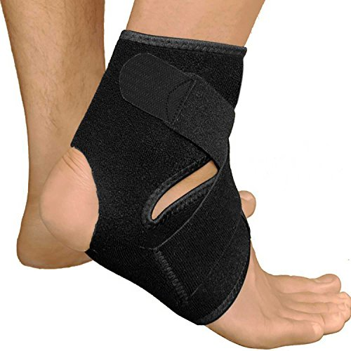 Buy Ankle Support by ALUONI - Neoprene Breathable Brace for Sprained Ankle - Black Color, One Size