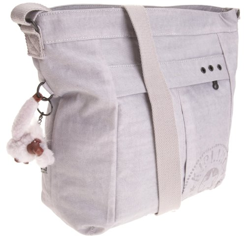 Kipling Women's Borne Across Body Shoulder Bag Dove Grey K19858876 Large