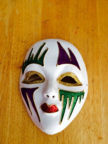 Mardi Gras Mache Decorated Mask