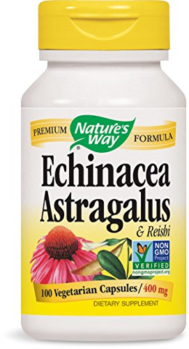 Nature's Way Echinacea, Astragalus and Reishi, 100 Capsules