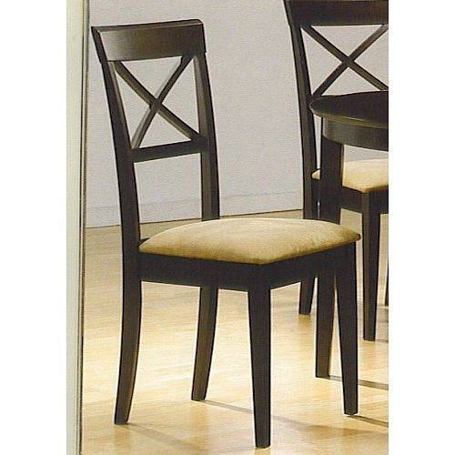Set Of 4 Chairs In A Rich Cappuccino Finish