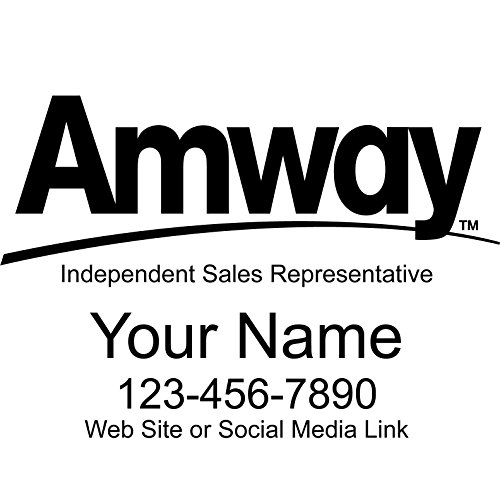 Basic Vinyl® - Amway® Independent Consultant Business Retail Decal - Personalized Custom Advertising for Your Company Vehicle Car Truck (22x15 inch, Gloss Black) (Amway Decal compare prices)