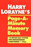 Page-a-Minute Memory Book (0345410149) by Lorayne, Harry
