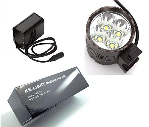 KK-LIGHT 4x CREE XML T6 LED 3 Modo 4000 Lumens Ciclismo Bici Bicicletta Luce Della Bici Faro per Gli Sport all'aria Aperta