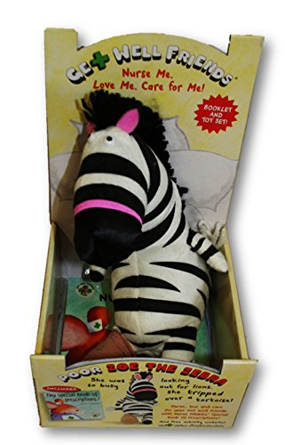 Plush Get Well Friends and Book Set (Zoe the Zebra)