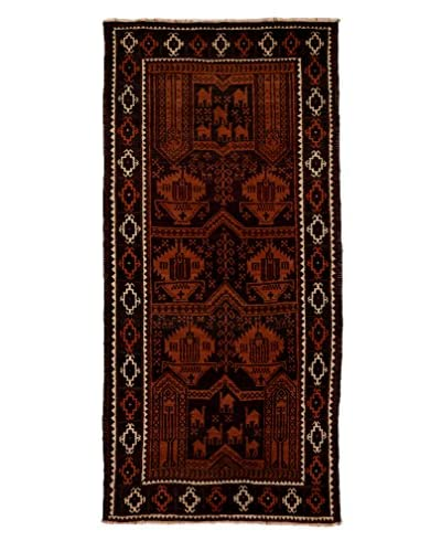 Tribal Collection Oriental Rug, Orange, 3' 7 x 7' 10