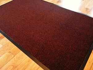 Barrier Mat Large Red Black Door Mat Rubber Backed Medium
