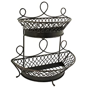 Amazon.com - Mesa Home Products Pasha 2-Tier Half Round Basket - Home