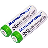 MaximalPower 18650 3.7V Rechargeable Li-ion Battery (Pack of 2)