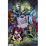Monster High Group Poster - 11x17 custom fit with RichAndFramous Black 11 inch Poster Hangers