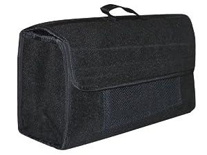 Eufab 21023 Kofferraumtasche, Nadelfilz 50 x 15 x 22 cm, Grau, Klettverschluss