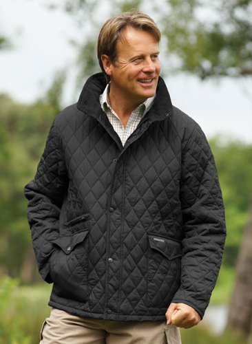 Mens Champion Penrith Country Clothing Warm Diamond Quilt Design Jacket Black XL
