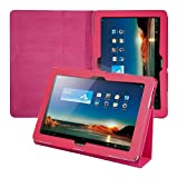 Kwmobile® Elegant leather case for Huawei MediaPad 10 FHD in Hot Pink with convenient STAND FEATURE