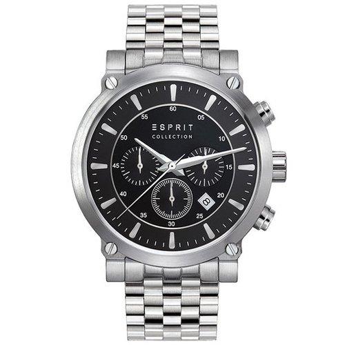 Esprit el102121F08poros Silver-Cronógrafo para Hombre