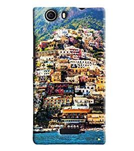 Blue Throat Venice Landscape Printed Designer Back Cover For Micromax Nitro 2 (E311)