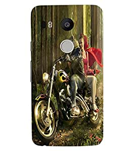 ColourCraft Funny Image Design Back Case Cover for LG GOOGLE NEXUS 5X