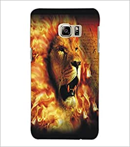 PrintDhaba Lion Face D-5426 Back Case Cover for SAMSUNG GALAXY NOTE 5 (Multi-Coloured)
