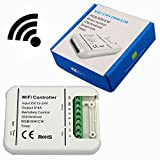 Smart Wifi Controller RGB/WW/CW Max 5CH DC7.5-24V 4A*5CH Music Control IOS/Android Smartphone Control Sync Control by Group 16Million Colors for LED Strip Panel light Ceiling Light