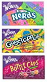 Wonka Lovers Variety Theatre Pack - Nerds - Gobstoppers - Bottle Caps